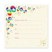 Pack of 10, 50th Birthday Party Invitations